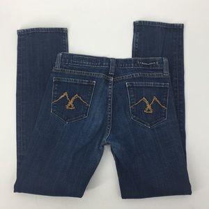 Vigoss Size 7 Dark Denim Jeans Cotton/Spandex